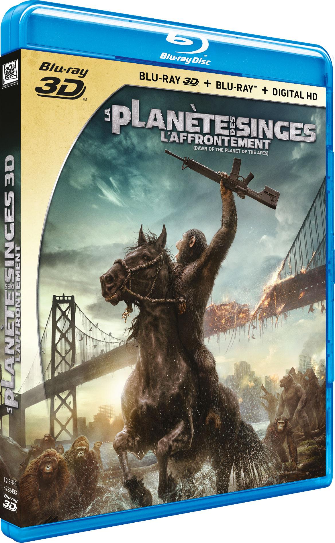La Planète des singes : l'affrontement - Blu-ray 3D