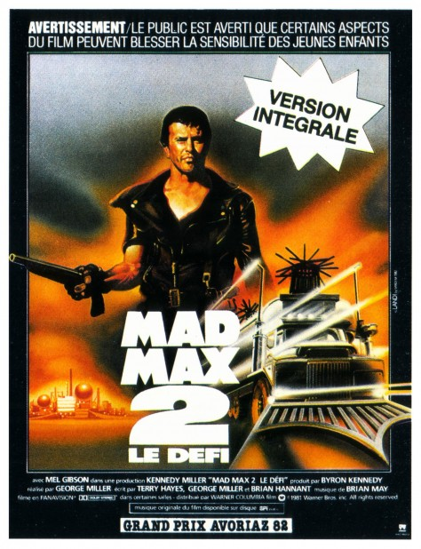Mad Max - The Road Warrior - Affiche France