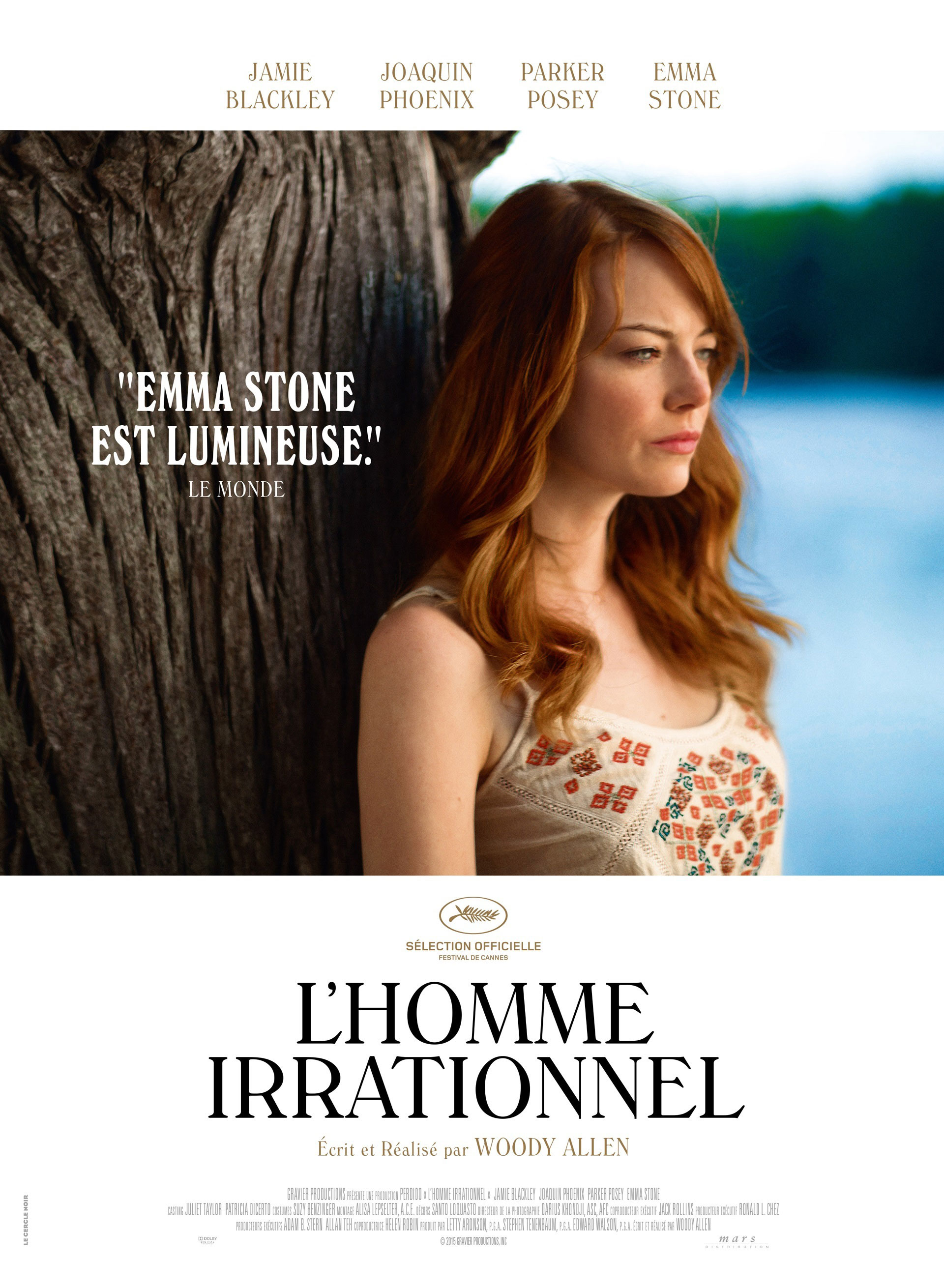 L'Homme irrationnel - Affiche Emma Stone