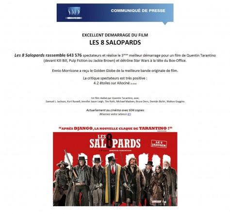 Communiqué de presse Les Huit salopards
