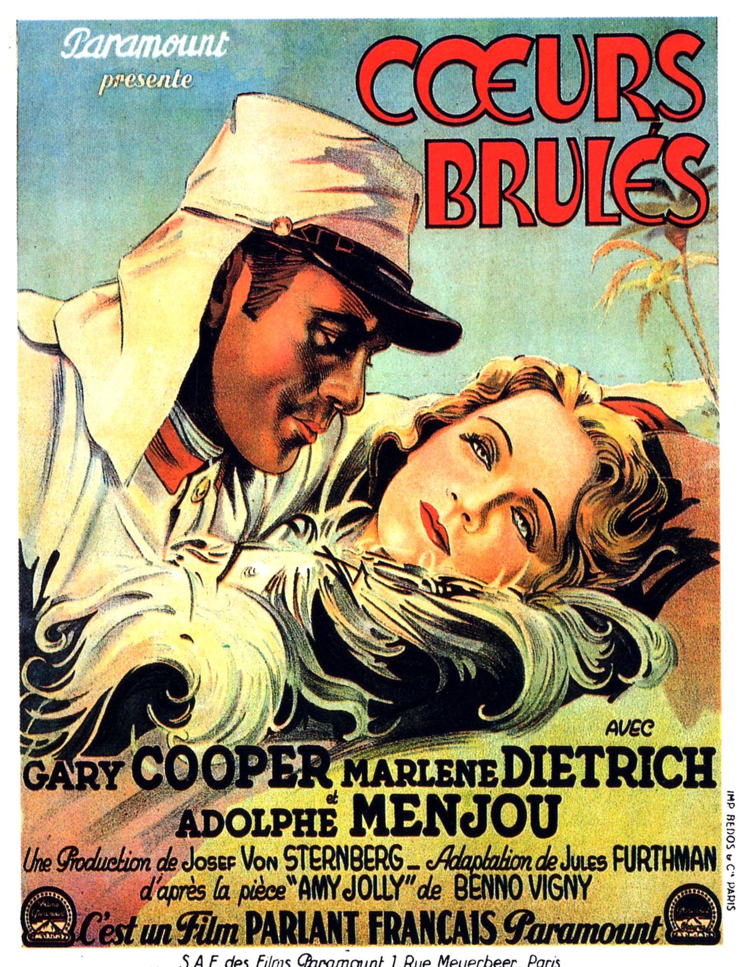 Coeurs Brulés (Morocco) - Affiche française 1930