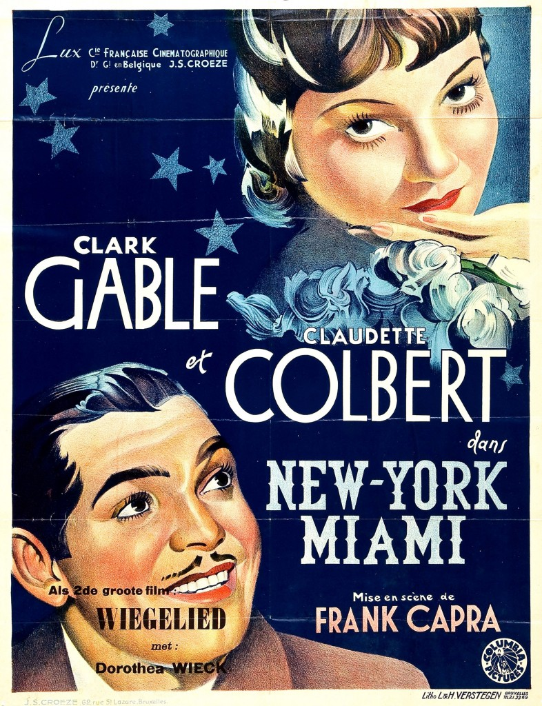 It Happened One Night (New York-Miami) - Affiche France
