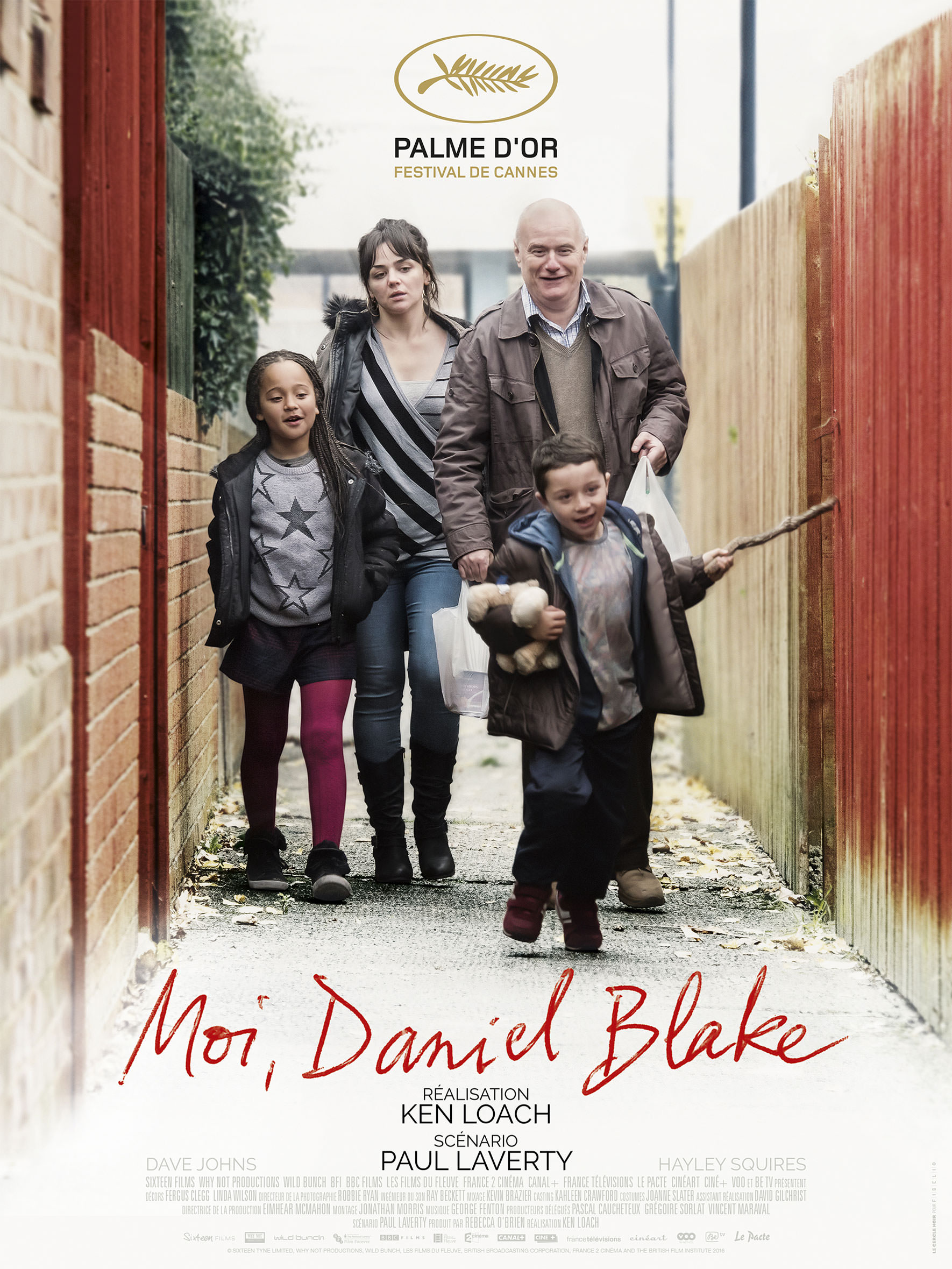 Moi, daniel Blake - Affiche Cannes 2016