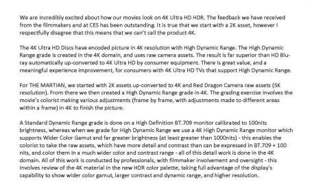 Seul sur Mars – Blu-ray 4K Ultra HD (James Finn Statement)