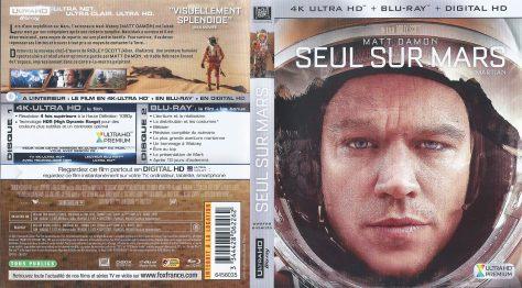 Seul sur Mars – Jaquette Blu-ray 4K Ultra HD