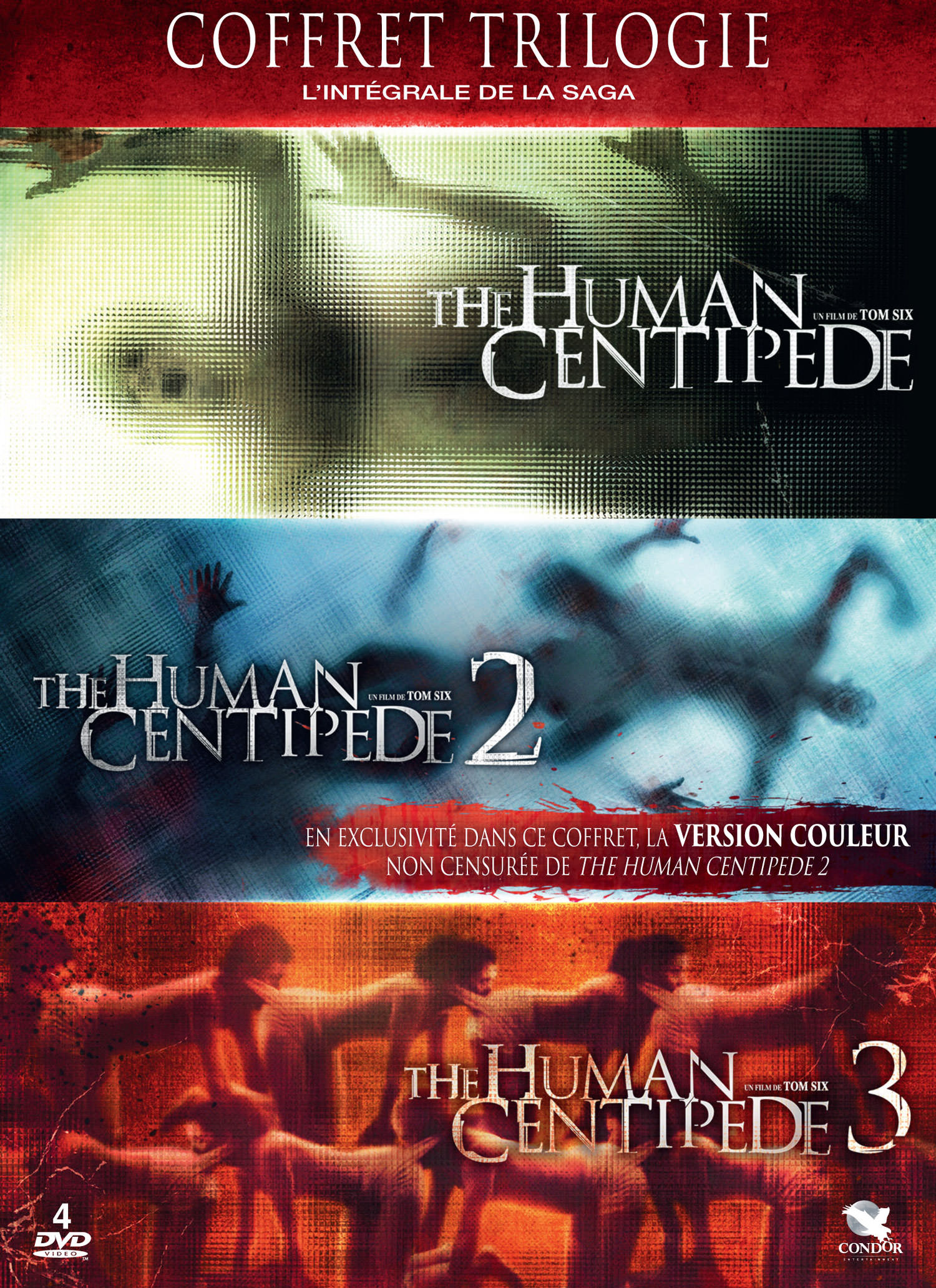 The Human Centipede - Coffret DVD Trilogie