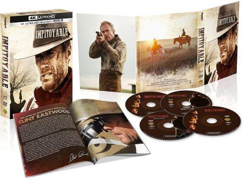 Impitoyable (1992) de Clint Eastwood - Édition 25e anniversaire - Packshot Blu-ray 4K Ultra HD (Ouvert)