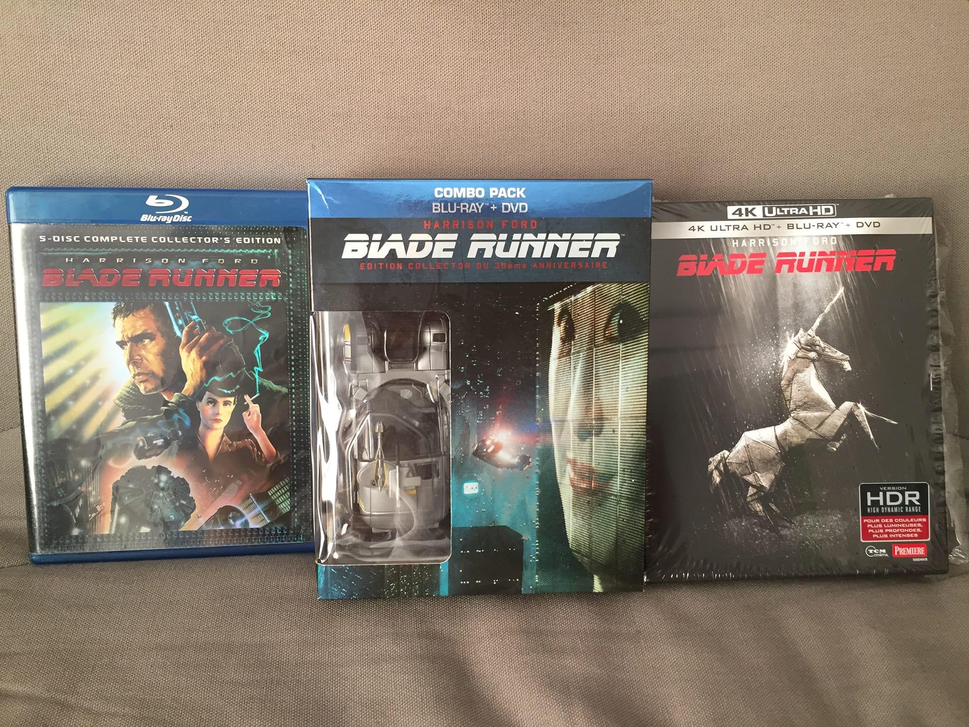 Blade Runner - Édition Blu-ray 2007, 2012, 2017