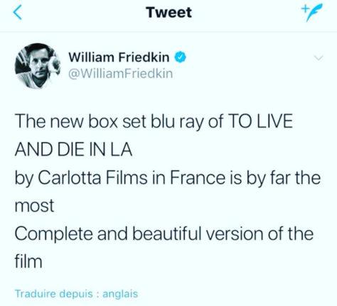 Friedkin - Tweet To Live and Die in L.A.