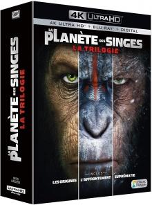 La Planète des Singes : La Trilogie – Packshot Blu-ray 4K Ultra HD