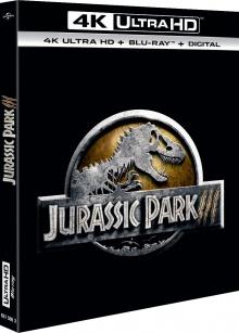 Jurassic Park III (2001) de Joe Johnston – Packshot Blu-ray 4K Ultra HD