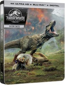 Jurassic World : Fallen Kingdom - Édition boîtier SteelBook (2018) de J.A. Bayona - Packshot Blu-ray 4K Ultra HD
