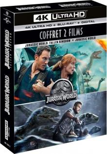 Jurassic World 1 et 2 - Packshot Blu-ray 4K Ultra HD