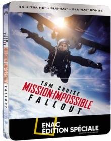 Mission : Impossible - Fallout - Steelbook Édition spéciale Fnac (2018) de Christopher McQuarrie - Packshot Blu-ray 4K Ultra HD