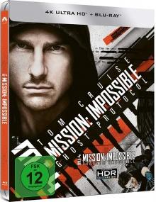 Mission : Impossible - Protocole fantôme - Steelbook (2011) de Brad Bird - Packshot Blu-ray 4K Ultra HD