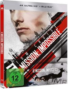 Mission : Impossible - Steelbook (1996) de Brian De Palma - Packshot Blu-ray 4K Ultra HD