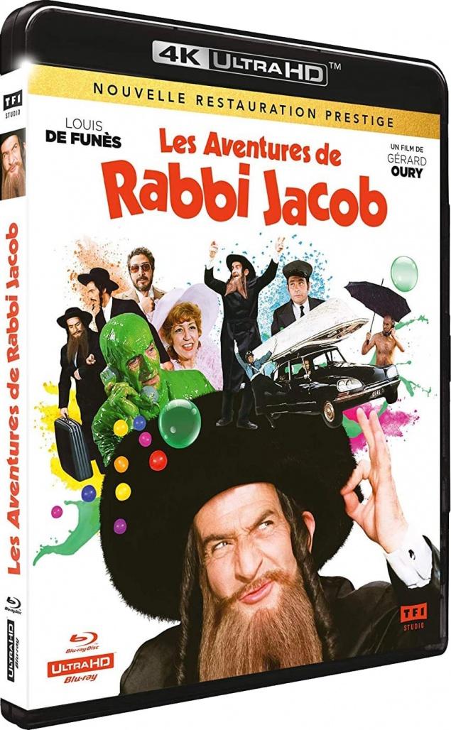 Les Aventures de Rabbi Jacob (1973) de Gérard Oury – Packshot Blu-ray 4K Ultra HD