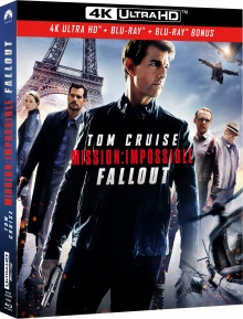 Mission : Impossible - Fallout (2018) de Christopher McQuarrie – Packshot Blu-ray 4K Ultra HD