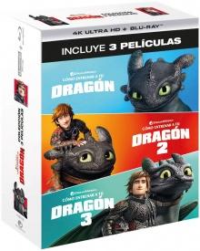 Dragons : La Trilogie – Packshot Blu-ray 4K Ultra HD