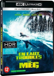 En eaux troubles (2018) de Jon Turteltaub – Packshot Blu-ray 4K Ultra HD