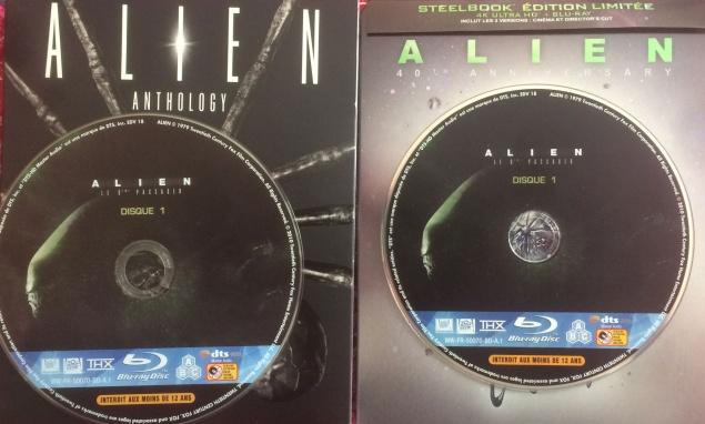 Sérigraphie disque Alien - 4K Vs Blu-ray