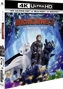 Dragons 3 : Le Monde caché (2019) de Dean DeBlois - Packshot Blu-ray 4K Ultra HD
