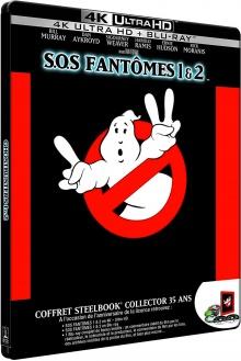 S.O.S. Fantômes 1 & 2 + Blu-ray bonus (1984 - 1989) de Ivan Reitman - Packshot Blu-ray 4K Ultra HD