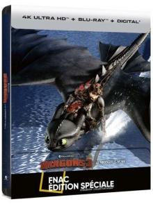 Dragons 3 : Le monde caché (2019) de Dean DeBlois - Steelbook Édition Spéciale Fnac - Packshot Blu-ray 4K Ultra HD