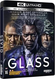 Glass (2019) de M. Night Shyamalan - Packshot Blu-ray 4K Ultra HD