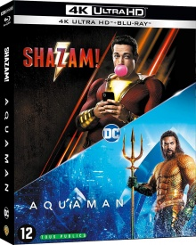 Aquaman + Shazam! - Packshot Blu-ray 4K Ultra HD