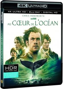 Au coeur de l'océan (2015) de Ron Howard - Packshot Blu-ray 4K Ultra HD