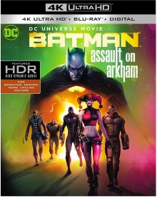 Batman : Assaut sur Arkham (2014) de Jay Oliva & Ethan Spaulding - Packshot Blu-ray 4K Ultra HD
