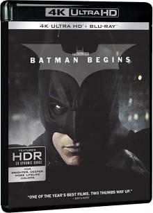 Batman Begins (2005) de Christopher Nolan - Packshot Blu-ray 4K Ultra HD