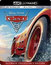 Cars 3 (2017) de Brian Fee - Packshot Blu-ray 4K Ultra HD