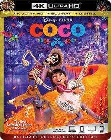 Coco (2017) de Lee Unkrich & Adrian Molina - Packshot Blu-ray 4K Ultra HD