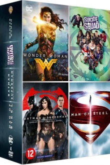 Coffret DC Comics Édition spéciale Fnac : Wonder Woman + Man of Steel + Batman V Superman + Suicide Squad - Packshot Blu-ray 4K Ultra HD