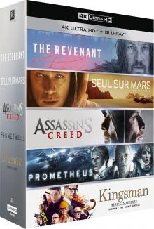 Coffret Le meilleur de la 4K : The Revenant + Seul sur Mars + Assassin's Creed + Prometheus + Kingsman - Packshot Blu-ray 4K Ultra HD