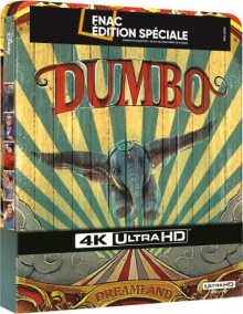 Dumbo (2019) de Tim Burton - Steelbook Édition Spéciale Fnac - Packshot Blu-ray 4K Ultra HD
