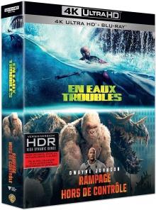 En eaux troubles + Rampage - Hors de contrôle - Packshot Blu-ray 4K Ultra HD
