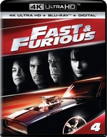 Fast & Furious 4 (2009) de Justin Lin - Packshot Blu-ray 4K Ultra HD