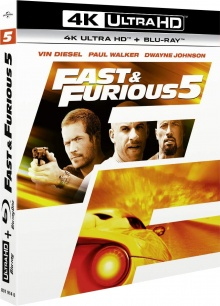 Fast & Furious 5 (2011) de Justin Lin - Packshot Blu-ray 4K Ultra HD