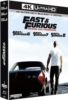 Fast & Furious 6, 7 et 8 - Packshot Blu-ray 4K Ultra HD