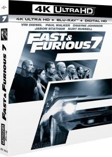 Fast & Furious 7 (2015) de James Wan - Packshot Blu-ray 4K Ultra HD