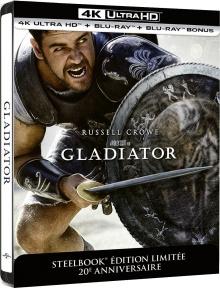 Gladiator (2000) de Ridley Scott – Édition SteelBook 20ème Anniversaire – Packshot Blu-ray 4K Ultra HD