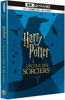 Harry Potter à l'école des sorciers (2001) de Chris Columbus : 4K Ultra HD + Blu-ray + Blu-ray Bonus + DVD + DVD Bonus - Packshot Blu-ray 4K Ultra HD