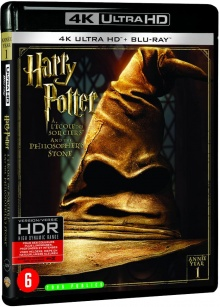 Harry Potter à l'école des sorciers (2001) de Chris Columbus - Packshot Blu-ray 4K Ultra HD