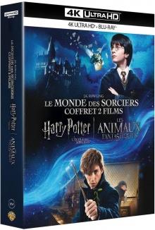 Harry Potter à l'école des sorciers + Les Animaux fantastiques - Packshot Blu-ray 4K Ultra HD