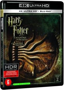 Harry Potter et la Chambre des Secrets (2002) de Chris Columbus - Packshot Blu-ray 4K Ultra HD