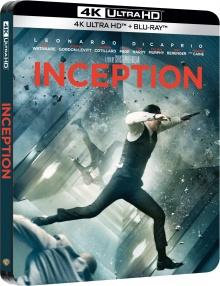 Inception (2010) de Christopher Nolan - Édition boîtier SteelBook - Packshot Blu-ray 4K Ultra HD