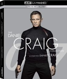 James Bond 007 - The Daniel Craig Collection : Casino Royale, Quantum of Solace, Skyfall, Spectre - Packshot Blu-ray 4K Ultra HD